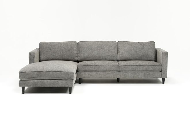 Cosmos Grey 2 Piece Sectional With Left Arm Facing Chaise - 360