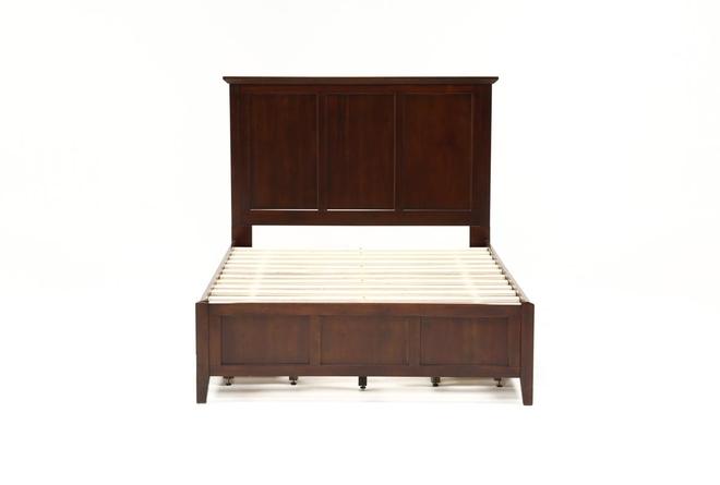Copenhagen Brown Queen Storage Bed - 360