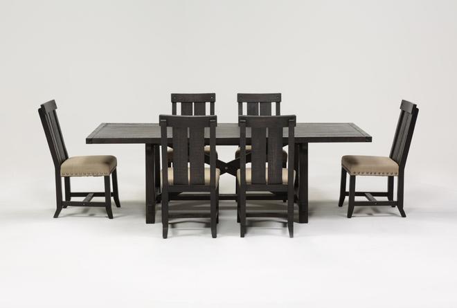 Jaxon 7 Piece Rectangle Dining Set W/Wood Chairs - 360