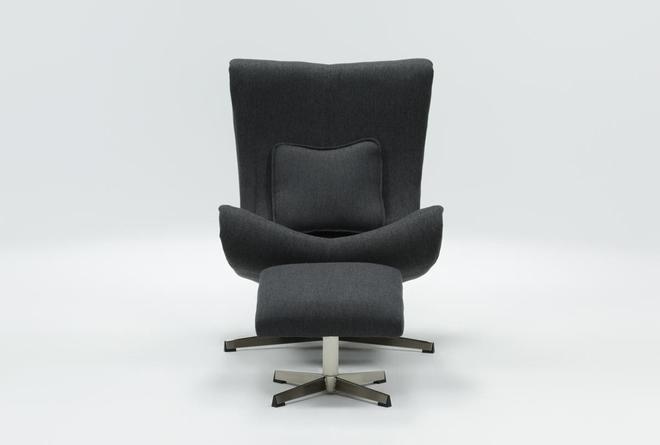 Anne Accent Chair & Ottoman - 360
