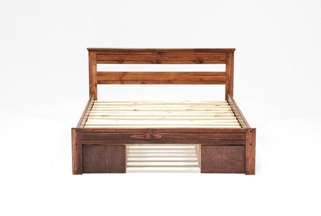 Sedona Full Platform Bed With Double 2- Drawer Storage Unit - 360