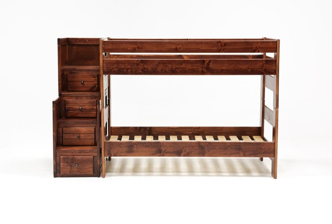 Sedona Twin Over Twin Bunk Bed With Stairway Chest - 360