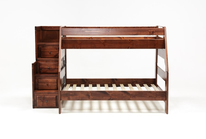 Sedona Twin Over Full Bunk Bed With Stairway Chest - 360