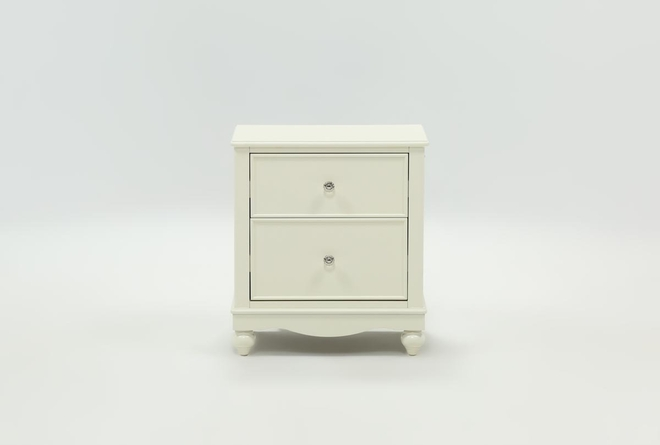Madison White 2-Drawer Nightstand With LED Night Light - 360