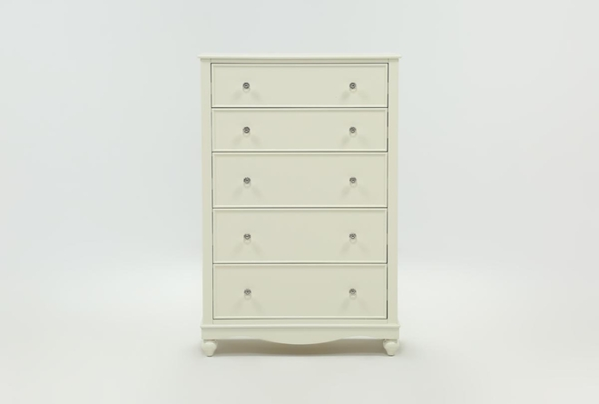 Madison White Chest Of Drawers - 360