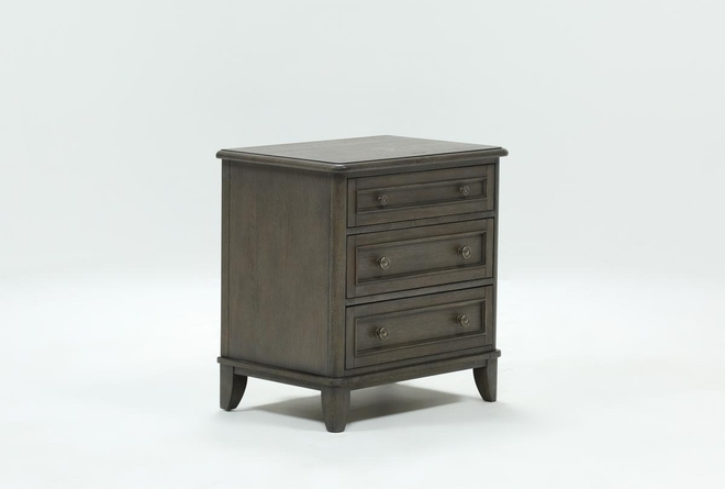 Candice II 3-Drawer Nightstand With USB and Power Outlets - 360