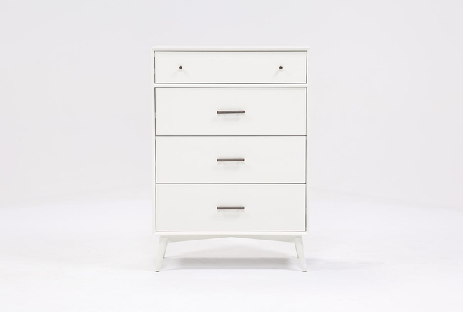 Alton White Chest Of Drawers - 360