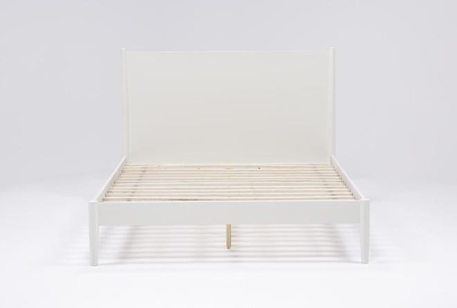 Alton White California King Platform Bed - 360