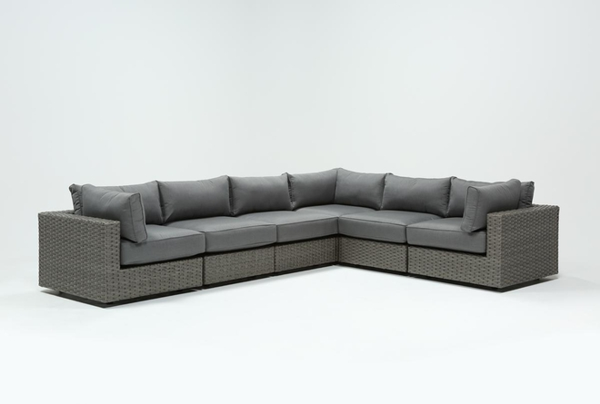 """Koro Outdoor 6 Piece 136"""" Sectional With 3 Corners  - 360"""