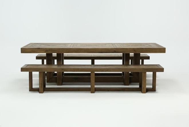 Palazzo 3 Piece Dining Table Set - 360