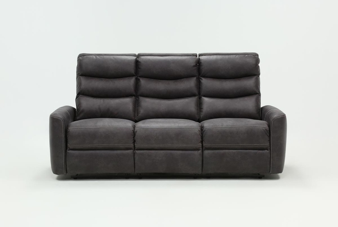 "Malia 80"" Power Reclining Sofa With Usb - 360"