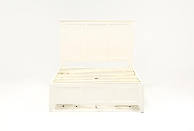 Copenhagen White Eastern King Storage Bed - 360