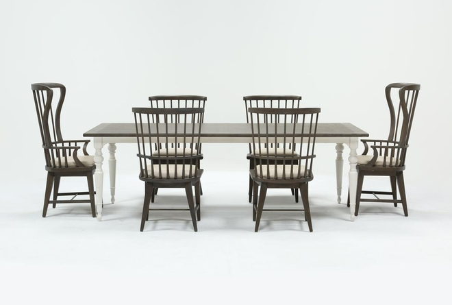 Candice II 7 Piece Extension Rectangle Dining Set - 360