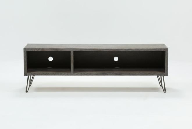 Melrose Titanium 65 Inch Lowboy TV Stand - 360