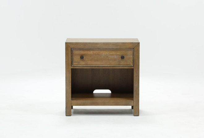 Conrad Open Nightstand With USB - 360