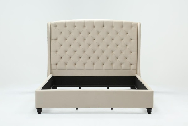 Mariah California King Upholstered Panel Bed - 360