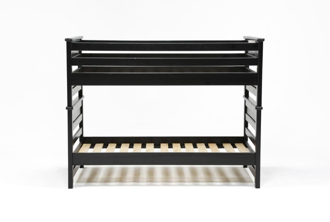 Summit Black Twin Over Twin Bunk Bed - 360