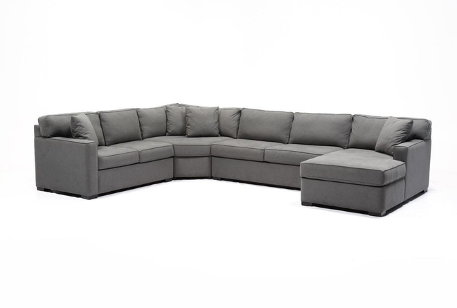 Enjoyable Alder Foam 4 Piece Sectional W Right Arm Facing Chaise Dailytribune Chair Design For Home Dailytribuneorg