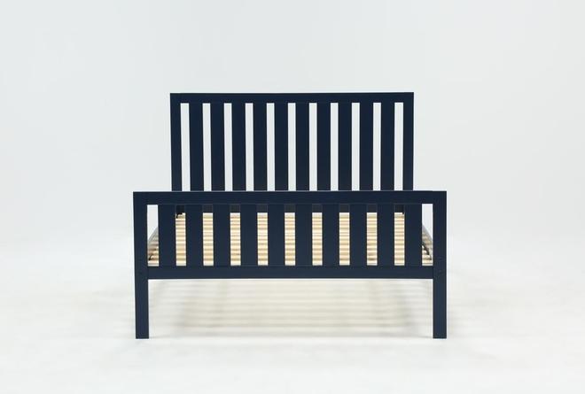 Taylor Navy Full Slat Panel Bed - 360