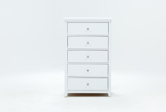 Taylor White Chest Of Drawers - 360