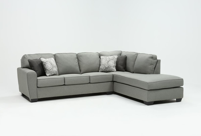 Mcdade Ash 2 Piece Sectional With Right Arm Facing Armless Chaise - 360