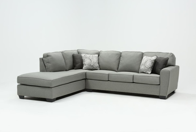 "Mcdade Ash 2 Piece 114"" Sectional With Left Arm Facing Armless Chaise - 360"