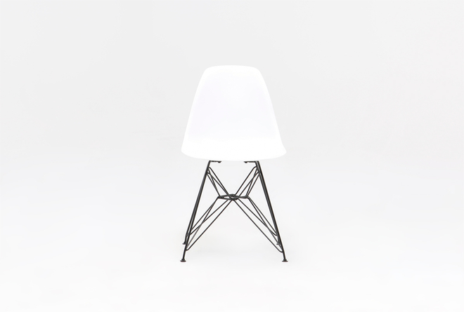 Alexa White Dining Side Chair - 360