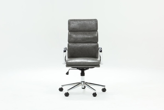 Moby Grey High Back Office Chair - 360
