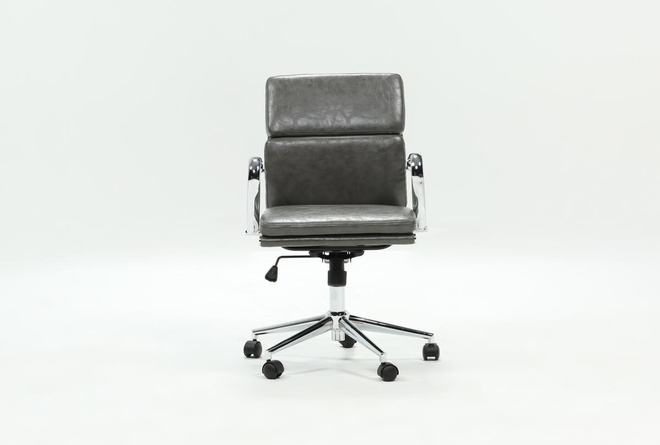 Moby Grey Low Back Desk Chair - 360