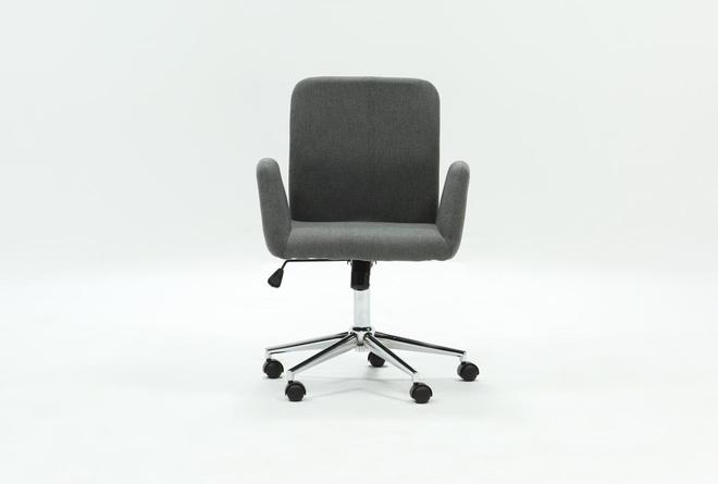 Calder Dark Grey Office Chair - 360
