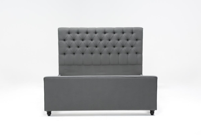 Leighton Queen Upholstered Panel Bed - 360