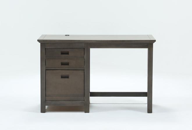 Owen Grey Desk With USB - 360