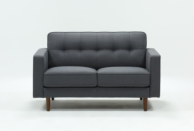 "London Dark Grey 58"" Loveseat - 360"