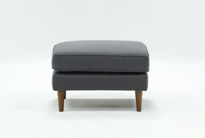 London Dark Grey Ottoman - 360