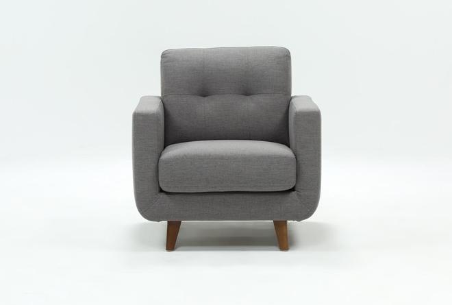 Allie Dark Grey Chair - 360