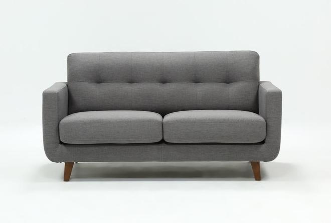 Allie Dark Grey Twin Plus Sleeper Sofa - 360
