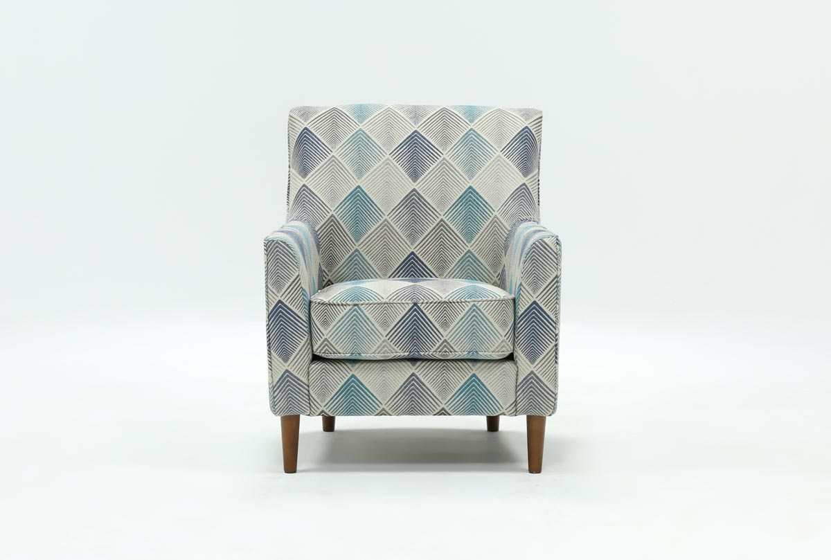 Sven Denim Accent Chair Living Spaces