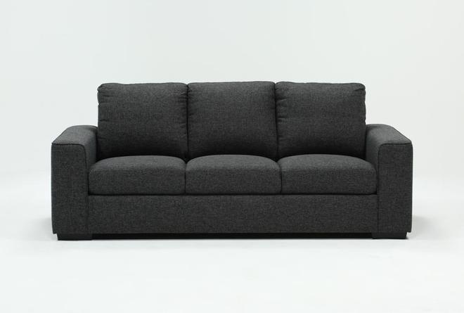 "Lucy Dark Grey 84"" Sofa - 360"