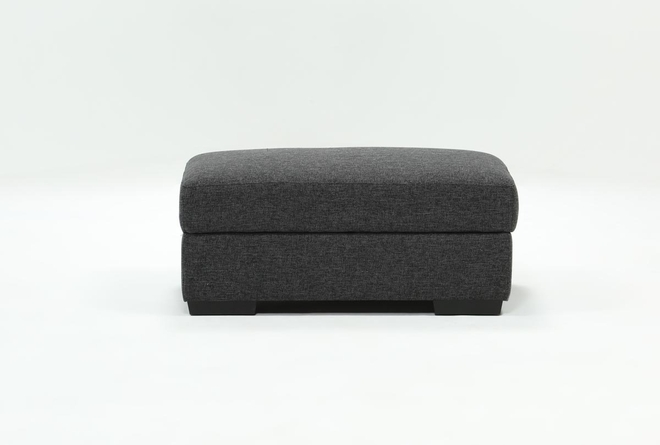 Lucy Dark Grey Storage Cocktail Ottoman - 360