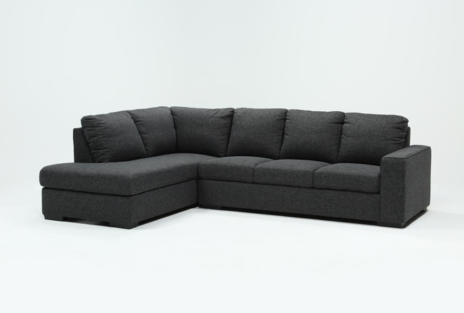 Lucy Dark Grey 2 Piece Sectional With Right Arm Facing Chaise - 360