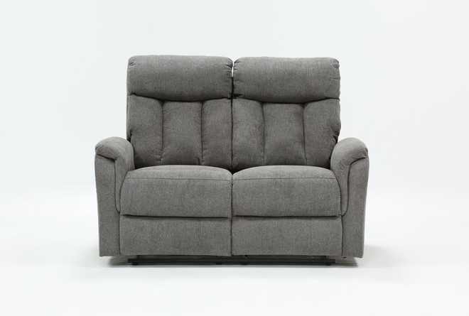 Suzy Dark Grey Reclining Loveseat - 360