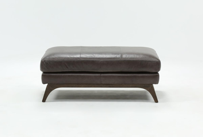 Cosette Leather Cocktail Ottoman - 360