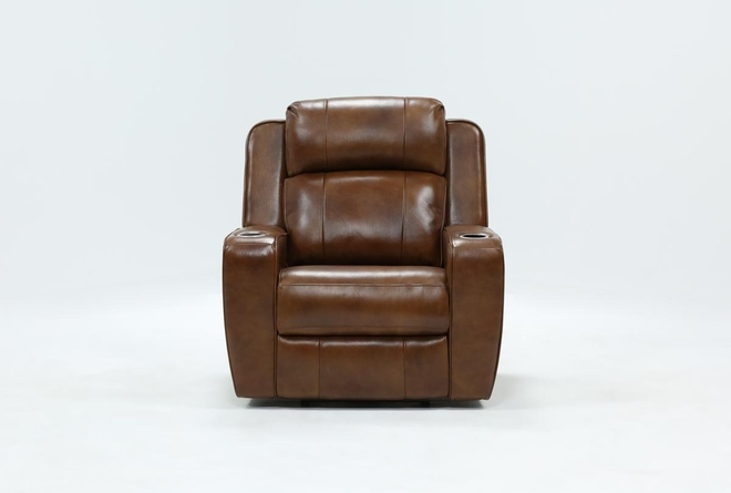 Phelps Leather Power Wallaway Recliner With Power Headrest & USB - 360