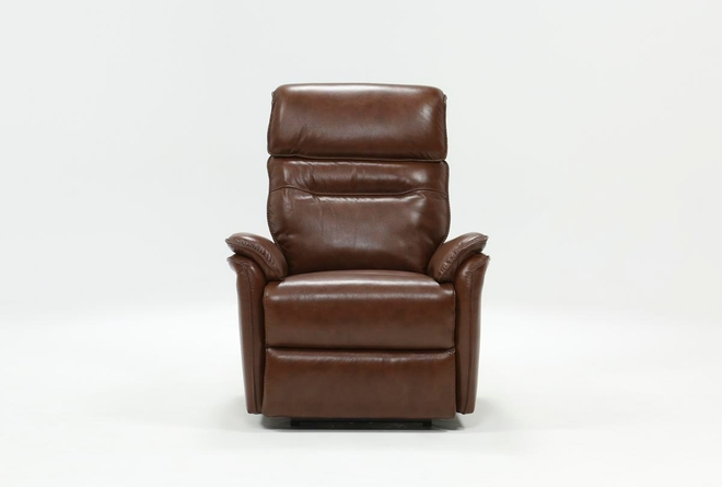 Laird Brown Power Wallaway Recliner W/ Adjustable Headrest - 360