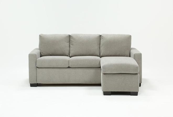 Mackenzie Silverpine Queen Plus Sofa Sleeper W/ Storage Chaise - 360