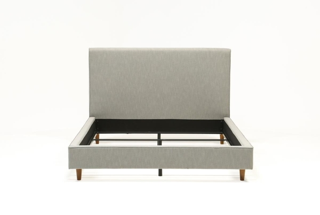 Dean Charcoal Queen Upholstered Panel Bed - 360