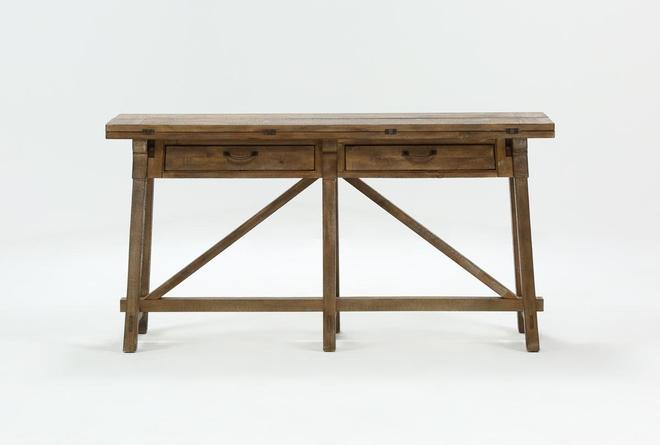 Craftsman Flip-Top Sofa Table - 360