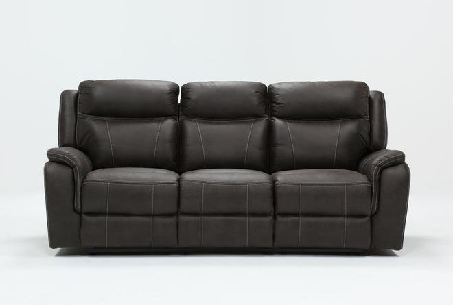 "Griffin Grey 87"" Power Reclining Sofa - 360"