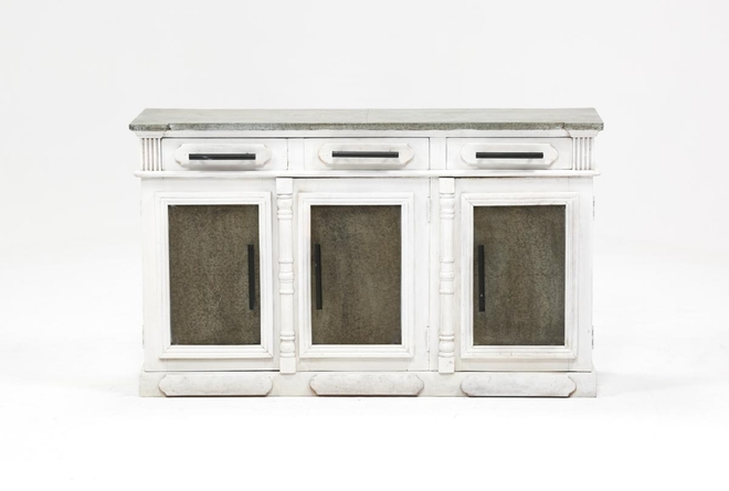 White Wash 3-Door/3-Drawer Sideboard - 360