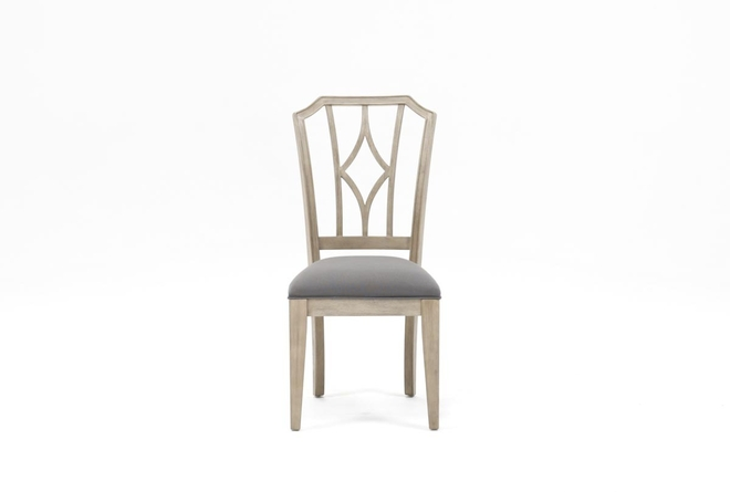 Caira Upholstered Diamond Back Side Chair - 360